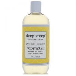 Deep Steep, Body Wash, Grapefruit - Bergamot, 17 fl oz (503 ml) Biografie, wspomnienia
