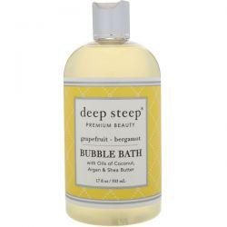 Deep Steep, Bubble Bath, Grapefruit - Bergamot, 17 fl oz (503 ml)