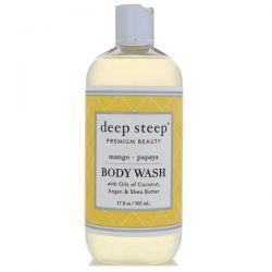 Deep Steep, Body Wash, Mango Papaya, 17 fl oz (503 ml) Biografie, wspomnienia