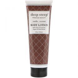 Deep Steep, Body Lotion, Vanilla - Coconut, 8 fl oz (236 ml) Biografie, wspomnienia