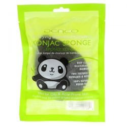 Denco, Konjac Sponge, Purifying Bamboo Charcoal, 1 Sponge Pozostałe
