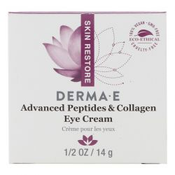 Derma E, Advanced Peptides & Collagen Eye Cream , 1/2 oz (14 g) Pozostałe