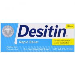 Desitin, Diaper Rash Cream, Rapid Relief, 4 oz (113 g)