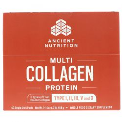 Dr. Axe / Ancient Nutrition, Multi Collagen Protein, 40 Single Stick Packets, 14.4 oz (408 g) Biografie, wspomnienia