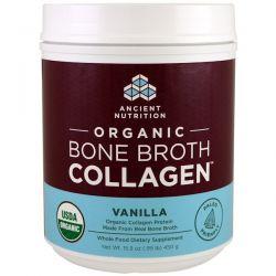 Dr. Axe / Ancient Nutrition, Organic Bone Broth Collagen, Vanilla, 15.9 oz (450 g) Biografie, wspomnienia