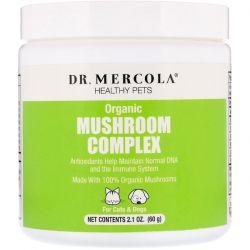 Dr. Mercola, Healthy Pets, Organic Mushroom Complex, For Cats & Dogs, 2.1 oz (60 g) Pozostałe