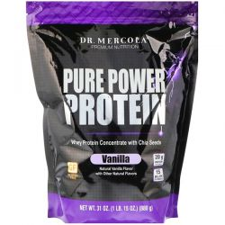 Dr. Mercola, Pure Power Protein, Vanilla Flavor, 31 oz (880 g) Biografie, wspomnienia
