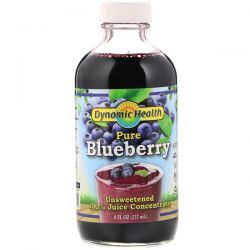 Dynamic Health  Laboratories, Pure Blueberry, 100% Juice Concentrate, Unsweetened, 8 fl oz (237 ml)