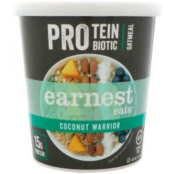 Earnest Eats, Protein Probiotic Oatmeal, Coconut Warrior, 2.5 oz (71 g) Pozostałe