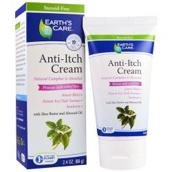 Earth's Care, Anti-Itch Cream, with Shea Butter and Almond Oil, 2.4 oz (68 g) Zdrowie i Uroda
