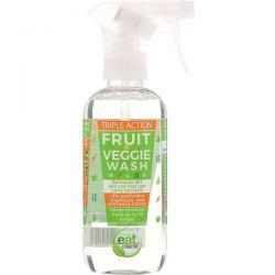 Eat Cleaner, Triple Action Fruit and Veggie Wash, 12 fl oz (354 ml) Zdrowie i Uroda