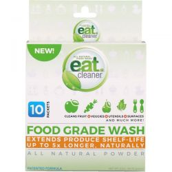 Eat Cleaner, Food Grade Wash, All Natural Powder, 10 Packets, 3.2 oz (90.72 g) Zdrowie i Uroda