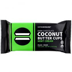 Eating Evolved, Dark Chocolate, Coconut Butter Cups, Mint Cream, Two Cups, 1.5 oz (42 g) Zdrowie i Uroda