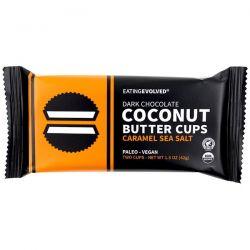 Eating Evolved, Dark Chocolate, Coconut Butter Cups, Caramel Sea Salt, Two Cups, 1.5 oz (42 g) Zdrowie i Uroda