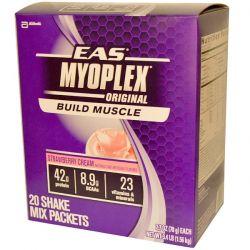EAS, MyoPlex, Original, Shake Mix, Strawberry Cream, 20 Packets, 2.7 oz (78 g) Each Zdrowie i Uroda