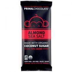 Eating Evolved, PrimalChocolate, Almond & Sea Salt 72% Cacao, 2.5 oz (71 g) Zdrowie i Uroda