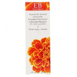 Ecco Bella, Leave-On Invisible Exfoliant & Blemish Remedy, 3, 2 fl oz (60 ml) Zdrowie i Uroda