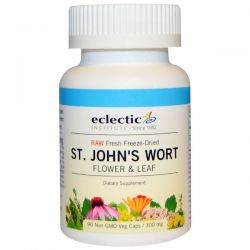 Eclectic Institute, St. John's Wort, 300 mg, 90 Non-GMO Veggie Caps Zdrowie i Uroda