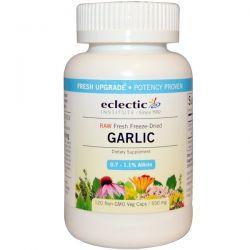 Eclectic Institute, Garlic, 550 mg, 120 Non-GMO Veggie Caps Zdrowie i Uroda