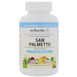 Eclectic Institute, Saw Palmetto, 600 mg, 240 Non-GMO Veg Caps Zdrowie i Uroda