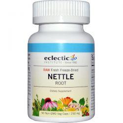 Eclectic Institute, Nettle Root, Raw, 250 mg, 90 Non-GMO Veggie Caps Zdrowie i Uroda