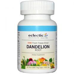 Eclectic Institute, Dandelion Root, Raw, 400 mg, 90 Non-GMO Veggie Caps Zdrowie i Uroda