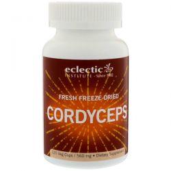 Eclectic Institute, Fresh Freeze-Dried Cordyceps, 560 mg, 120 Veg Caps Zdrowie i Uroda