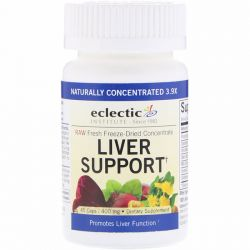 Eclectic Institute, Liver Support, 400 mg, 45 Caps Zdrowie i Uroda