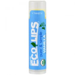 Eco Lips Inc., Pure & Simple, Lip Balm, Vanilla, .15 oz (4.25 g) Pozostałe