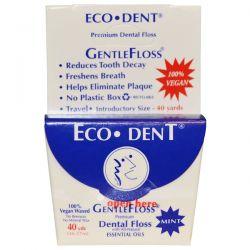 Eco-Dent, GentleFloss, Mint, 40 Yds (36.57 m)