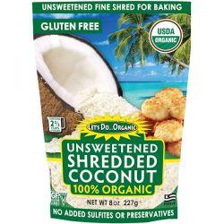 Edward & Sons, Let's Do Organic, 100% Organic Unsweetened Shredded Coconut, 8 oz (227 g)