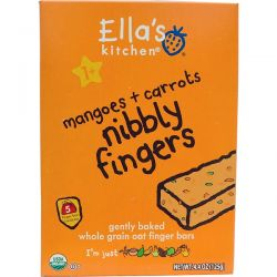 Ella's Kitchen, Nibbly Fingers, Mangoes + Carrots, 5 Bars, 4.4 oz (125 g) Biografie, wspomnienia