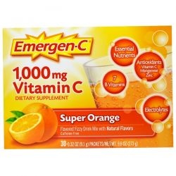 Emergen-C, 1,000 mg Vitamin C, Super Orange, 30 Packets, 0.32 oz (9.1 g) Each Biografie, wspomnienia
