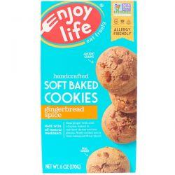 Enjoy Life Foods, Soft Baked Cookies, Gingerbread Spice, 6 oz (170 g) Pozostałe