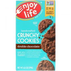 Enjoy Life Foods, Handcrafted Crunchy Cookies, Double Chocolate, 6.3 oz (179 g) Biografie, wspomnienia
