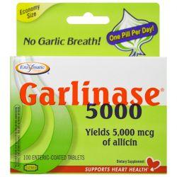 Enzymatic Therapy, Garlinase 5000, 100 Enteric-Coated Tablets Biografie, wspomnienia