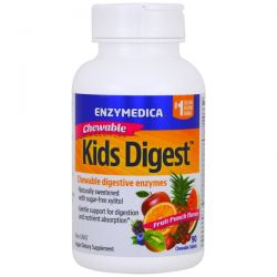 Enzymedica, Kids Digest, Chewable Digestive Enzymes, Fruit Punch, 90 Chewable Tablets Pozostałe
