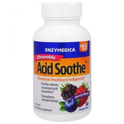 Enzymedica, Chewable Acid Soothe, Berry Flavor, 60 Chewable Tablets Biografie, wspomnienia