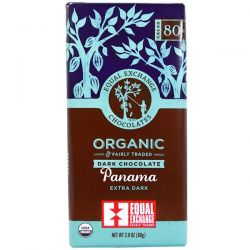 Equal Exchange, Organic, Dark Chocolate, Panama Extra Dark, 2.8 oz (80 g) Pozostałe