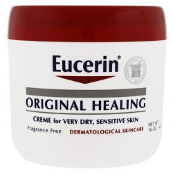 Eucerin, Original Healing, Creme for Very Dry, Sensitive Skin, Fragrance Free, 16 oz (454 g)