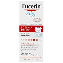 Eucerin, Baby, Eczema Relief, Flare Up Treatment, Fragrance Free, 2 oz (57 g)