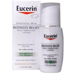 Eucerin, Redness Relief, Daily Perfecting Lotion SPF 15, Fragrance Free, 1.7 fl oz (50 ml) Biografie, wspomnienia
