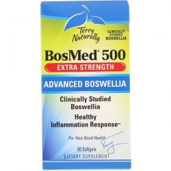 EuroPharma, Terry Naturally, BosMed 500, Extra Strength, Advanced Boswellia, 500 mg, 60 Softgels