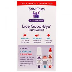 Fairy Tales, Lice Good-Bye Survival Kit, 3 Piece Kit