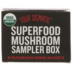 Four Sigmatic, Superfood Mushroom Sampler Box, 8 Mushroom Drink Packets