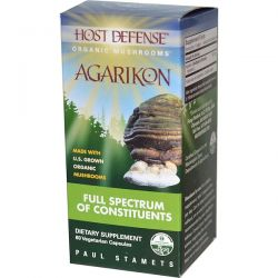 Fungi Perfecti, Host Defense, Agarikon, 60 Veggie Caps Biografie, wspomnienia