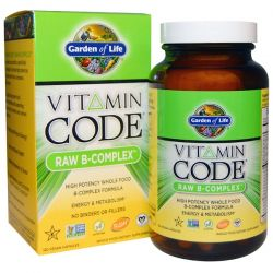 Garden of Life, Vitamin Code, Raw B-Complex, 120 Vegan Caps Biografie, wspomnienia