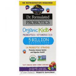 Garden of Life, Dr. Formulated Probiotics, Organic Kids +, Tasty Organic Berry Cherry, 30 Yummy Chewables Biografie, wspomnienia