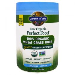 Garden of Life, Raw Organic Perfect Food, 100% Organic Wheat Grass Juice, Unflavored, 4.2 oz (120 g) Biografie, wspomnienia
