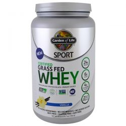 Garden of Life, Sport, Certified Grass Fed Whey Protein, Refuel, Vanilla, 23 oz (652 g)